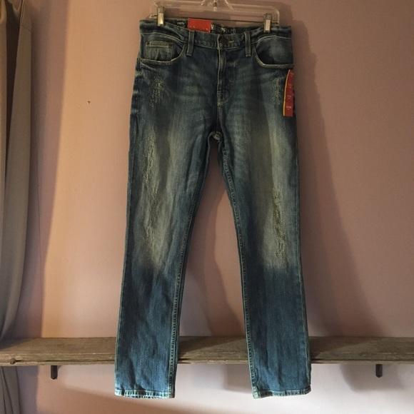 b1d7903b Mossimo Supply Co. Jeans | Mossimo Mens Distressed Slim Straight Leg ...